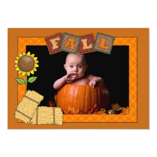 Fall Frame - Photo Holiday Card Personalized Announcements