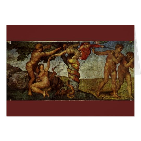 Fall from the Garden of Eden by Michelangelo Card