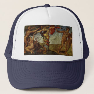 Fall from the Garden of Eden by Michelangelo Trucker Hat
