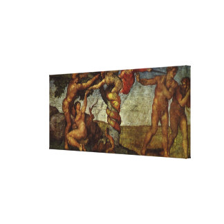 Fall from the Garden of Eden, Fresco, Michelangelo Gallery Wrapped Canvas
