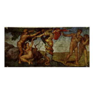 Fall from the Garden of Eden, Fresco, Michelangelo Posters