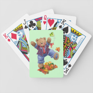 Fall Fun Bicycle Playing Cards