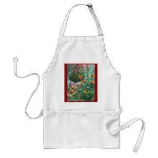 Fall Garden Daisies Adult Apron