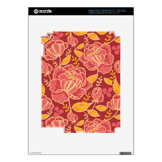 Fall garden vertical pattern background decal for iPad 3
