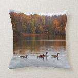 Fall Geese Reflections Throw Pillow
