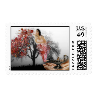 Fall Genie Postage Stamps