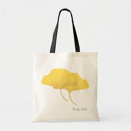 Fall Ginkgo Leaves Tote Bag