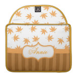 Fall, golden yellow graphic maple leaves MacBook pro sleeve
