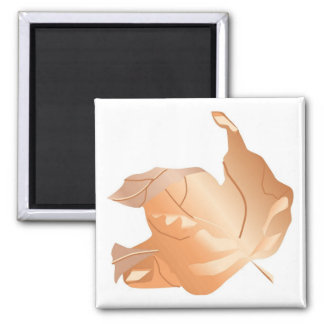 Fall Gradident Maple Leaf 2 Inch Square Magnet