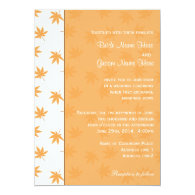 Fall graphic yellow leaves wedding invites   announcement