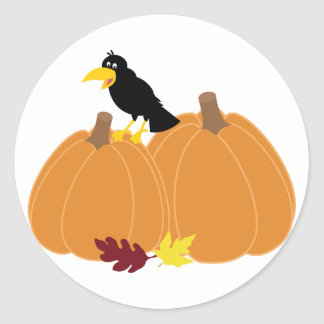 Fall Greeting Cards Classic Round Sticker