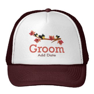 Fall Groom Favors and Apparel hat