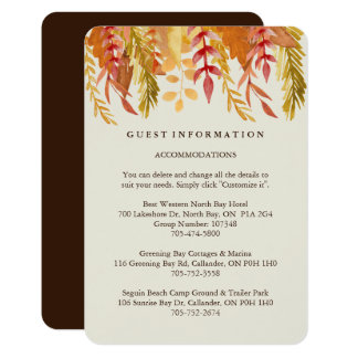 Fall Guest Information Cards