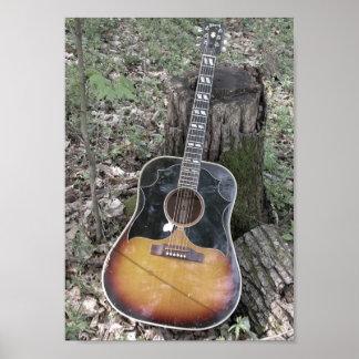 Fall Guitar Print