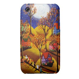 Fall Halloween Trick or Treat Kids Folk Art iPhone iPhone 3 Case
