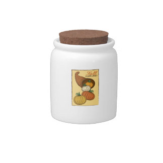 Fall Harvest Candy Jar