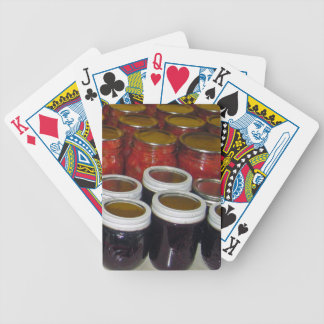 Fall Harvest - canning jams & more Bicycle Playing Cards