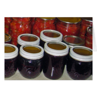 Fall Harvest - canning jams & more Card