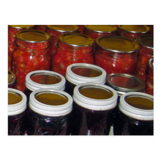 Fall Harvest - canning jams & more Postcard