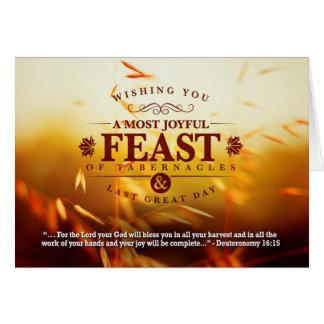 Fall Harvest Feast Greetings Card