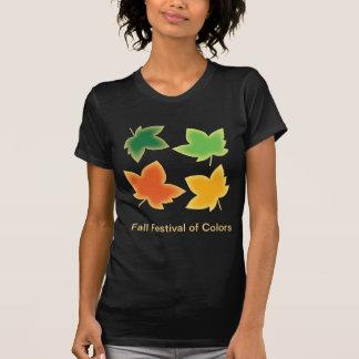 Fall Harvest Festival Maple Leaf Autumn Colors Tee Shirts