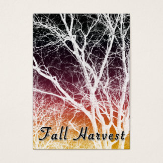 fall harvest ghost tree business card