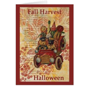 Halloween Themed Fall Harvest Halloween Card