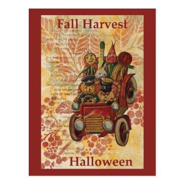 Halloween Themed Fall Harvest Halloween Postcard