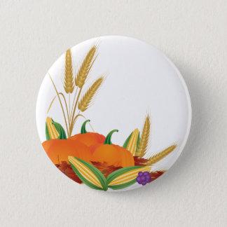 Fall Harvest Illustration Button