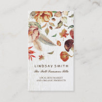 Fall Harvest Products Rural Farm Shop Business Card