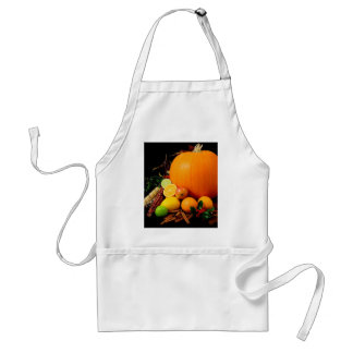 Fall Harvest Pumpkins and Maize Corn Adult Apron