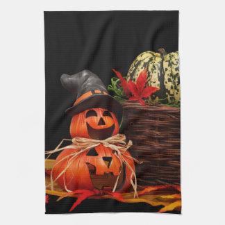 Fall Harvest Pumpkins Jack o Lantern Kitchen Towel