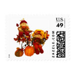 Fall Harvest Pumpkins Scarecrows Autumn Stamps