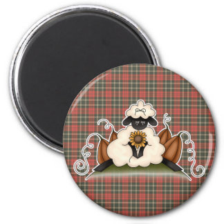 fall harvest sheep 2 inch round magnet