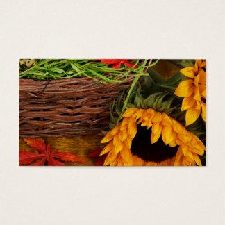 Fall Harvest Sunflowers Business Card