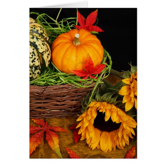 Fall Harvest Sunflowers Card