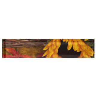 Fall Harvest Sunflowers Desk Name Plate