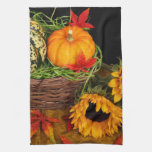 Fall Harvest Sunflowers Hand Towels