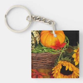 Fall Harvest Sunflowers Keychain