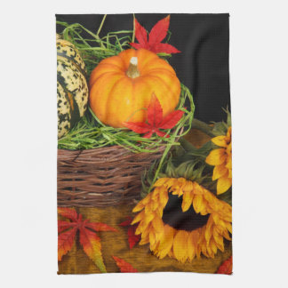 Fall Harvest Sunflowers Kitchen Towels