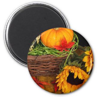 Fall Harvest Sunflowers Fridge Magnet