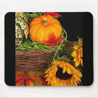 Fall Harvest Sunflowers Mouse Pad