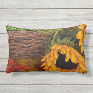 Fall Harvest Sunflowers Outdoor Pillow