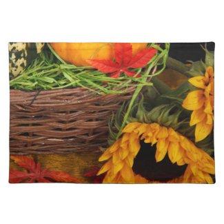 Fall Harvest Sunflowers Place Mat