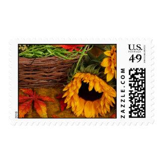 Fall Harvest Sunflowers Postage