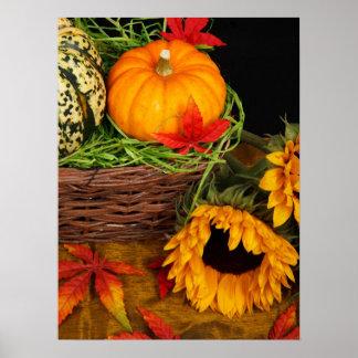 Fall Harvest Sunflowers Poster