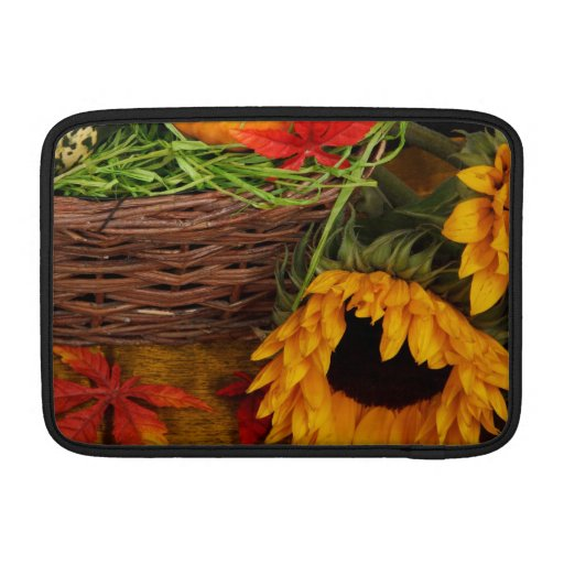 Fall Harvest Sunflowers Sleeve For MacBook Air