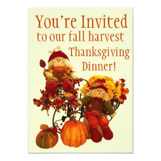 Fall Harvest Thanksgiving Dinner Invitations