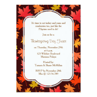 Fall Harvest Thanksgiving Invitation
