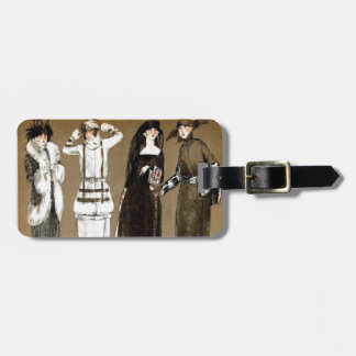 Fall Haute Couture 1920s Illustration Tags For Bags